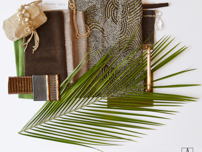 INSPIRED INTERIOR PALETTE : LUXE TROPIC