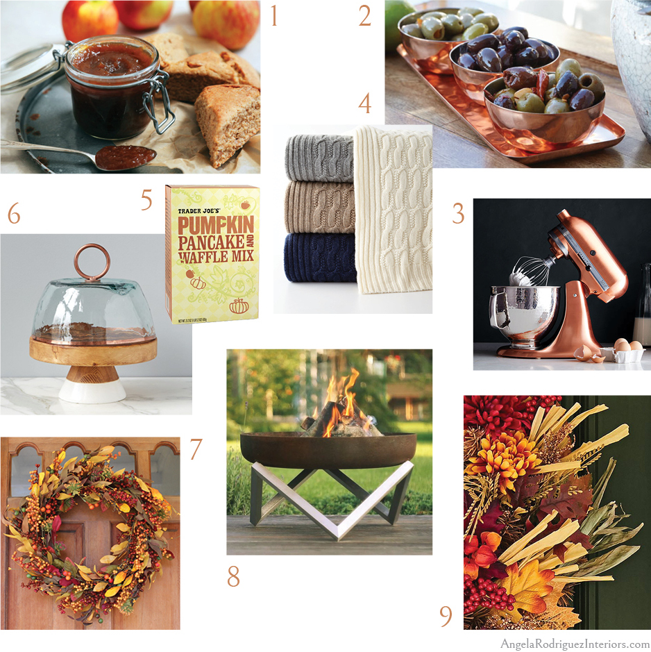 Angela's inspiration board for Fall 2018 home decor, fall decorating, kitchen inspiration, apple butter recipe