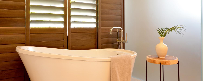 Coastal contemporary bathroom interior by Sarasota Tampa interior designer Angela Rodriguez Interiors