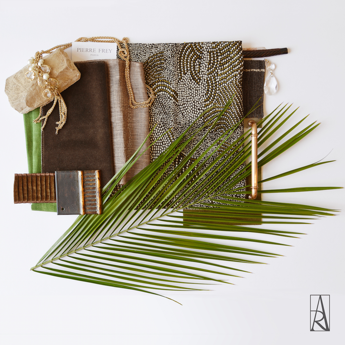 A luxurious, tropical palette for interior design inspiration by Angela Rodriguez Interiors