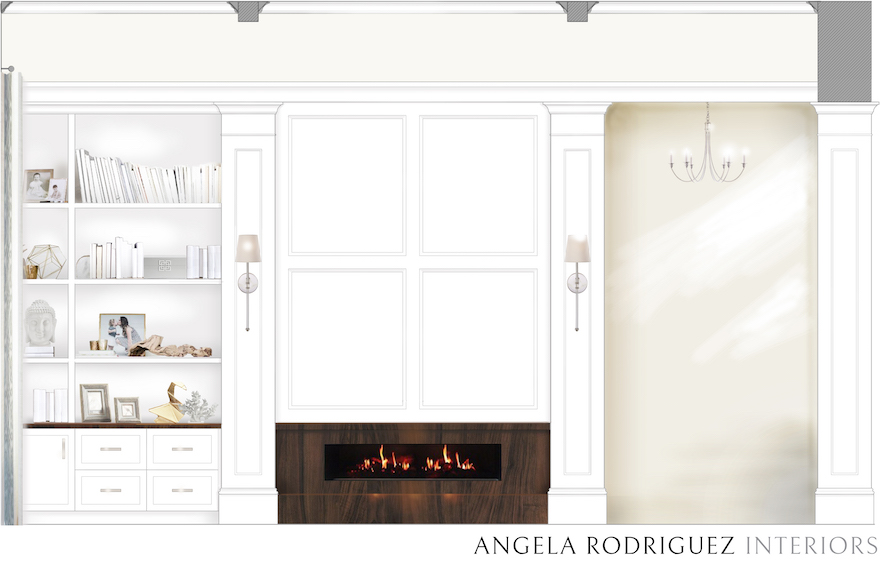 Sarasota interior designer Angela Rodriguez Interior custom home renderings