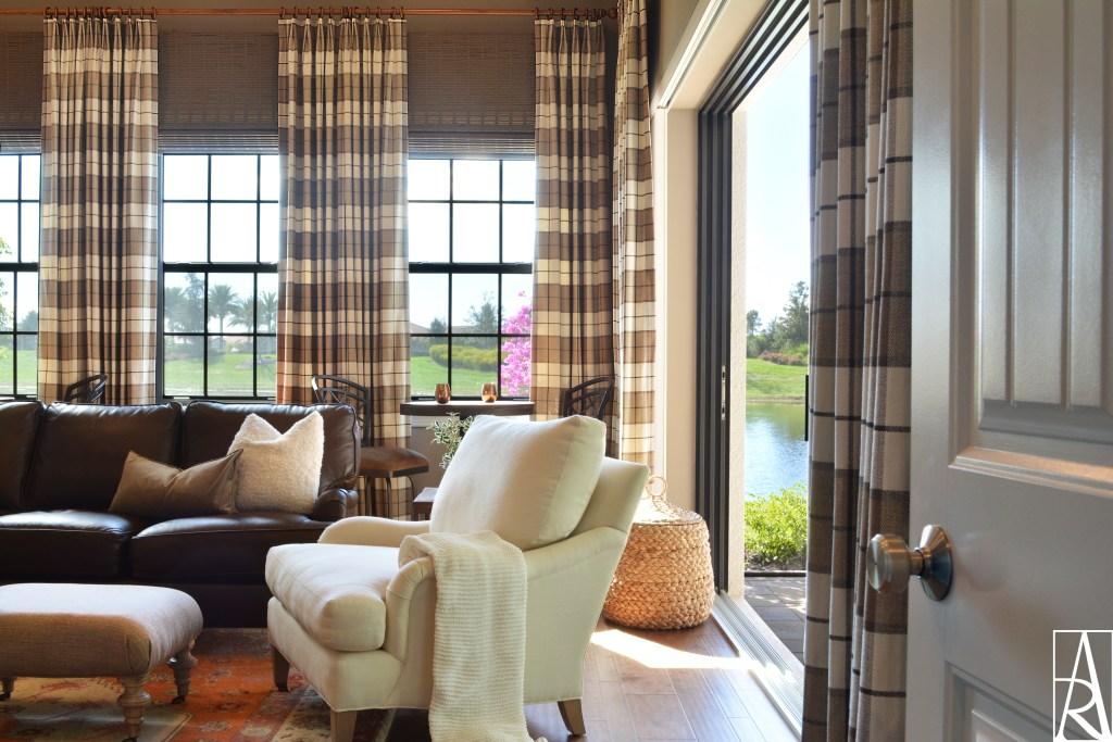 Golf club inspired bonus room in Lakewood Ranch Florida interior designer Angela Rodriguez Interiors