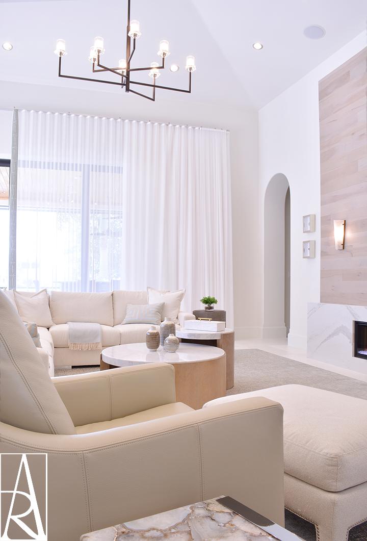 A contemporary living room design by Angela Rodriguez Interiors