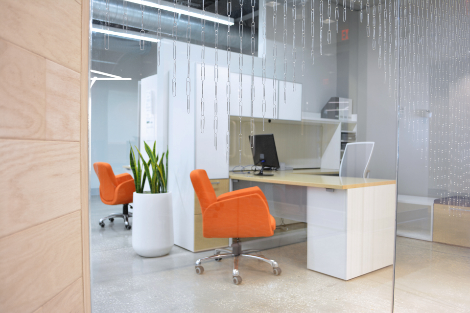 Modern tech office interior design in Tampa Florida by ARI