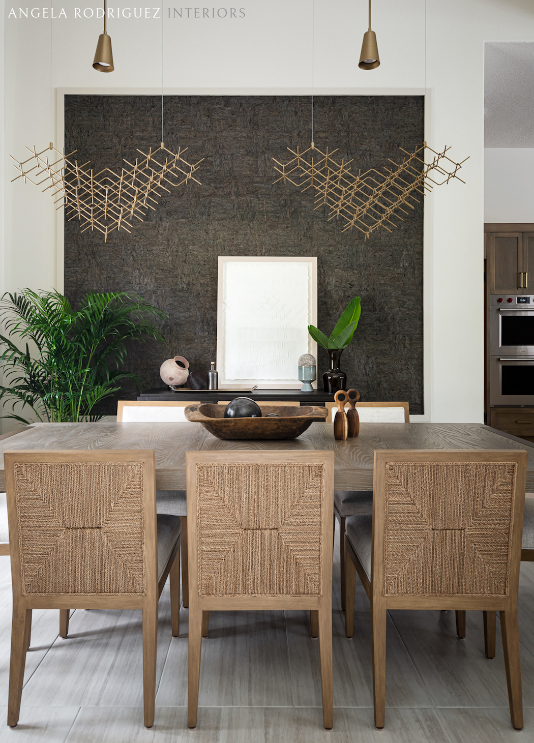 Transitional style dining room interior design by Angela Rodriguez Interiors in Sarasota Florida