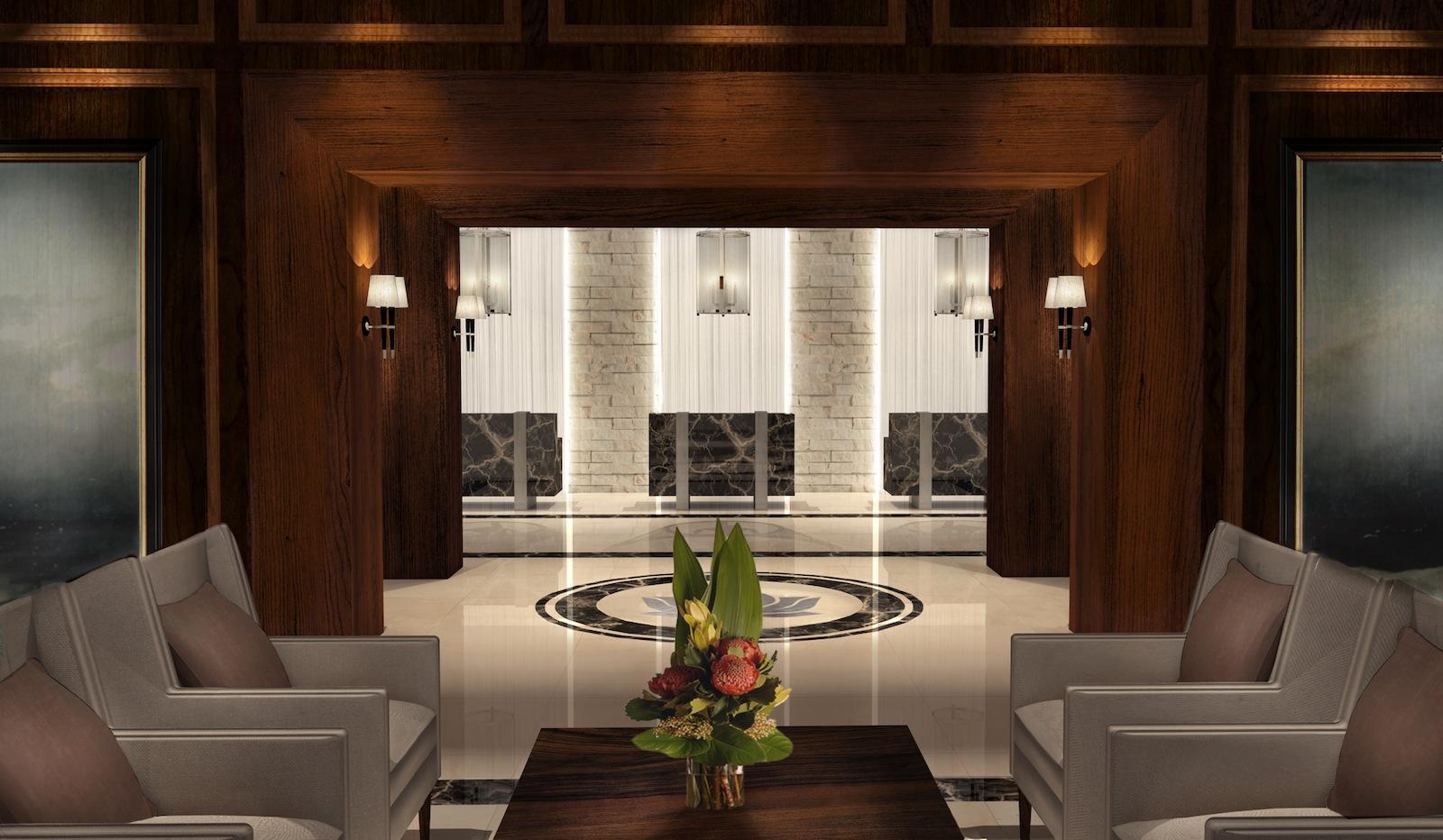 Luxury urban hotel concept designed by Angela Rodriguez Interiors